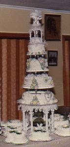 My own wedding cake circa 1975, 5'6